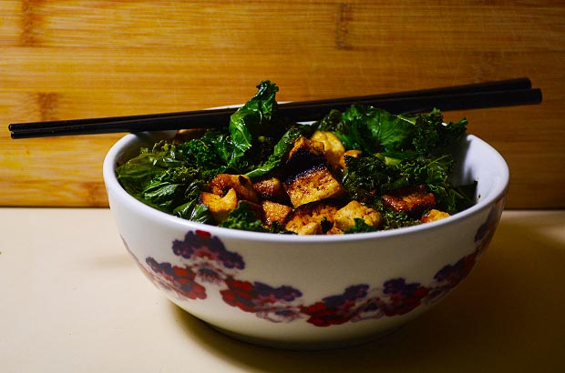 vegan, healthy, kale, tofu, dinner
