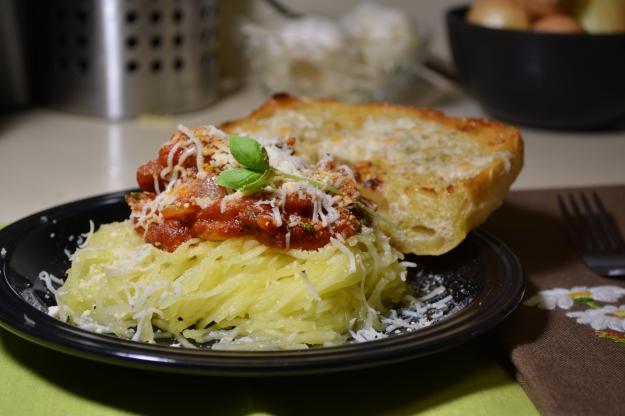 Spaghetti Squash with Spicy Marinara
