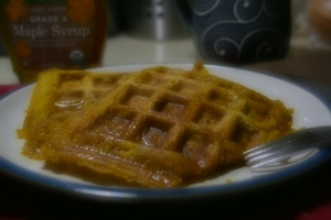 vegan, breakfast, pumpkin, waffles
