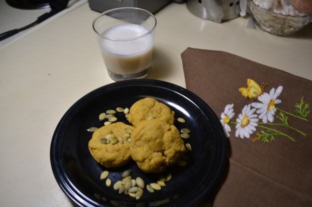Have some cinnamon, nutmeg, ground ginger and a can of pumpkin puree just laying around? Why not throw it into some cookies? Or something else pumpkiny... or something...