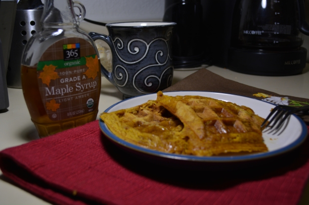 A great way to start your day: Pumpkin Waffles!!