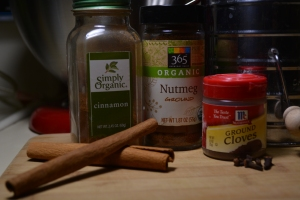 vegan baking staples, cinnamon, spices