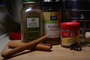 vegan baking staples, cinnamon, spices